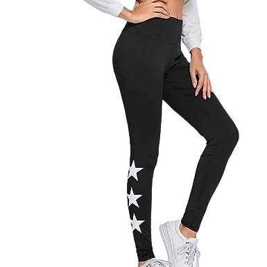 VJGOAL Pantalones de Yoga de Cintura Alta para Mujer Estrellas ...