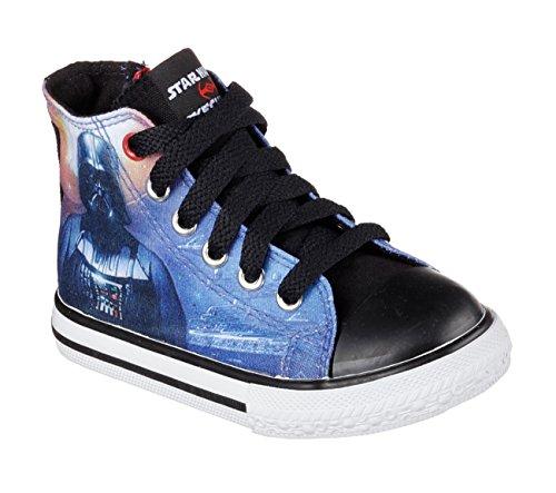 Skechers Infants/Toddlers Star Wars Cayden Star-Stream Sneaker,Black/Multi,US 5.