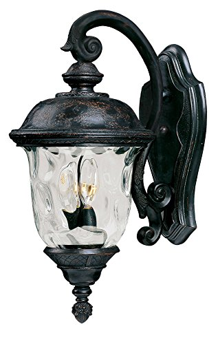 Maxim 40496WGOB, Carriage House VX 2-Light Outdoor Wall Lantern, Oriental Bronze ()