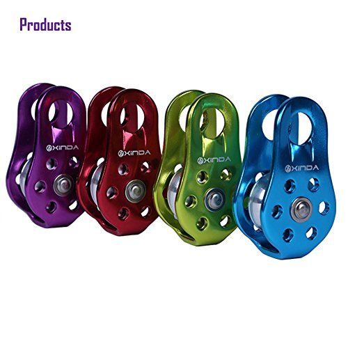 Balai Outdoor Travel Kits Hiking Climbing Rope Pulley Single Fixed Pulley Mountaineering Rope Climbing Rappelling Green by Balai