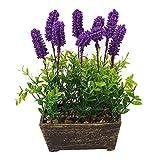 Artificial Silk Flowers Simulation Lavender Bonsai