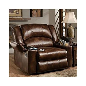 Amazoncom Simmons Brown Leather Over Sized Massage Reclining