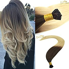 Googoo 16 inch to 22 inch Straight I Tip Remy Fusion Human Hair Extensions 1g Per Strand 50g Per Set