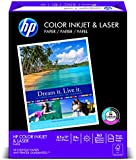HP Color Inkjet Paper, 97 Brightness, 8.5 x 11 Inches, 500 Sheets (20200-0)