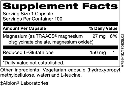 Klaire Labs Reduced L-Glutathione (150 Mg), 100 Vegetarian Capsules by Klaire Labs (Image #1)