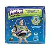 Pull-Ups Night-Time Potty Training Pants for Boys, 2T-3T (18-34 lb.), 50 Ct, PACK OF 2 (100 total pants) (Packaging May Vary)