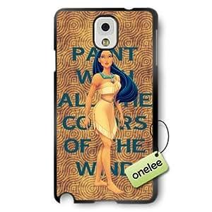 Disney Cartoon Movie Pocahontas Soft Rubber(TPU) Phone Case & Cover for Samsung Galaxy Note 3 - Black