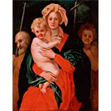 Canvas Prints Of Oil Painting 'Pontormo, Jacopo Da_1521-1527_The VirginChildSt JosephJohn The Baptist' 8 x 10 inch / 20 x 26 cm , Polyster Canvas Is For Gifts And Garage, Home Office And St decoration