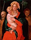 Oil Painting 'Pontormo, Jacopo Da_1521-1527_The VirginChildSt JosephJohn The Baptist' 30 x 39 inch / 76 x 98 cm , on High Definition HD canvas prints is for Gifts And Garage, Home Office And S decor