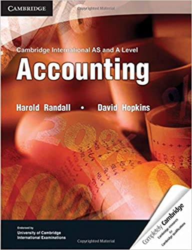 Cambridge International AS and A Level Accounting Textbook (Cambridge International Examinations)