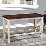Furniture of America CM3326WC-PBN Dover II Counter Height Seating Bench