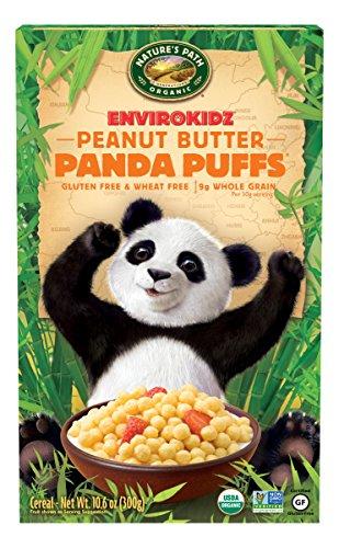 EnvirokidzOrganic Gluten-Free Cereal, Peanut Butter Panda Puffs, 10.6 Ounce Box (Pack of (Envirokidz Panda Puffs)