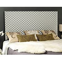 Safavieh Sydney Grey/ White Lattice Upholstered Headboard (King)