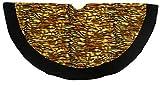48'' Tiger Animal Print with Black Trim Christmas Tree Skirt