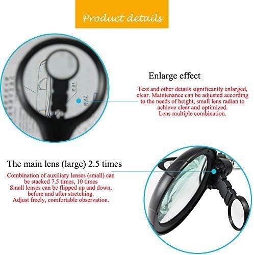 Lupenst/änder mit Klemme und Krokodilklemmen 2,5 x 7,5 x 10 x LED-Licht helfende H/ände Lupenstation
