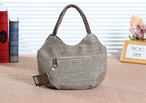 Womens Bag Chic Boho Travel Handbag Grey Embroidered Beach Tote 0S0nqrW