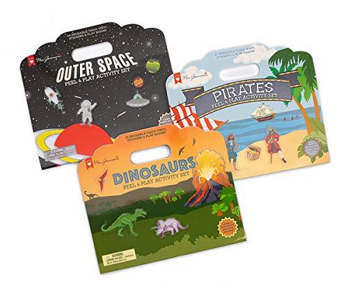 Mrs. Grossman's 71813 Peel & Play Activity Set - 3-Pack Adventure Bundle - with Reusable Vinyl Stickers, Multicolor
