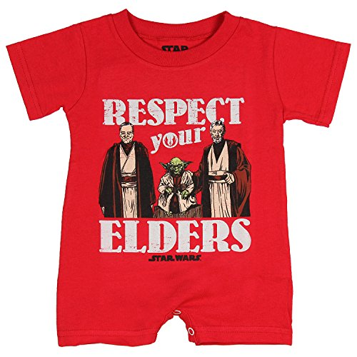 Mad Engine Star Wars Unisex Baby Respect Your Elders Romper Snapsuit
