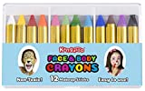 Face and Body Paint Crayon Set - 12 Colors for Costumes (48 Packs of 12 Crayons)