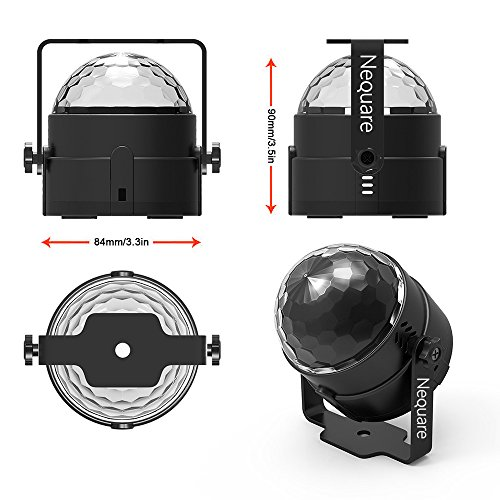 Nequare Party Lights Sound Activated Disco Ball Strobe Light 7 Lighting Color Disco Lights with Remote Control for Bar Club Party DJ Karaoke Wedding Show and Outdoor by Nequare (Image #4)
