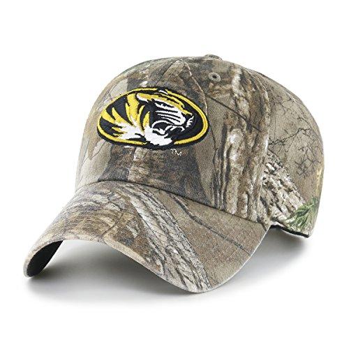 NCAA Missouri Tigers Realtree OTS Challenger Adjustable Hat, Realtree Camo, One Size