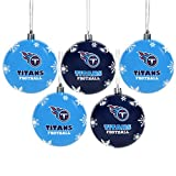 Tennessee Titans 2016 5 Pack Shatterproof Ball Ornament Set