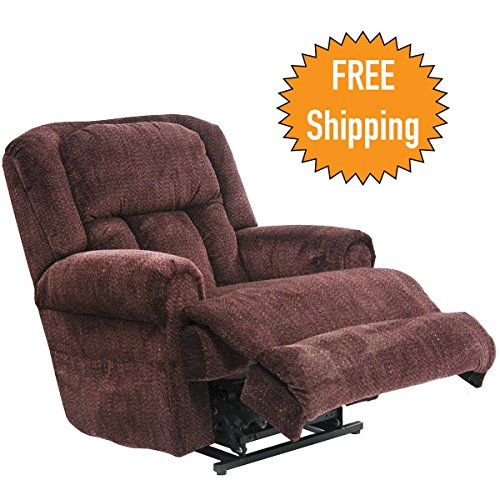 Catnapper Power Lift Full Lay-Out Recliner w/ Comfort Coil Seating & Dual Motor Comfort Function - Extra Wide Seating - Roll Arm & Horse Collar Back Treatment - Fashionable & Durable-400lb Capacity