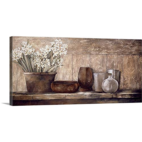 48 Sideboard (Gallery-Wrapped Canvas Entitled Hyacinth on a Sideboard by Linda Thompson 48