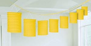 Accordion Style Paper Lantern Garlands | Sunshine Yellow | Party Decor