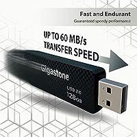 Reliable Performance /& Durable Gigastone V30 32GB USB2.0 Flash Drive 2-Pack Carbon Fiber Style Capless Retractable Design Pen Drive