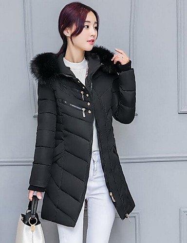 mujer ShangYi polipropileno manga casual abrigo algodón liso larga simple amp; largo de 2 nbsp;x l acolchado TT Blue qwOX155