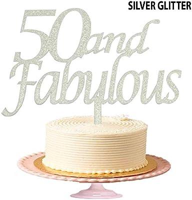 Decoración para tarta de cumpleaños, diseño de 50 años y ...