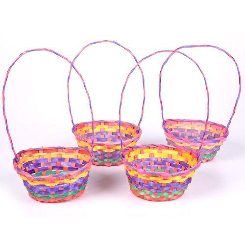 Rainbow Bamboo Easter Baskets Dozen