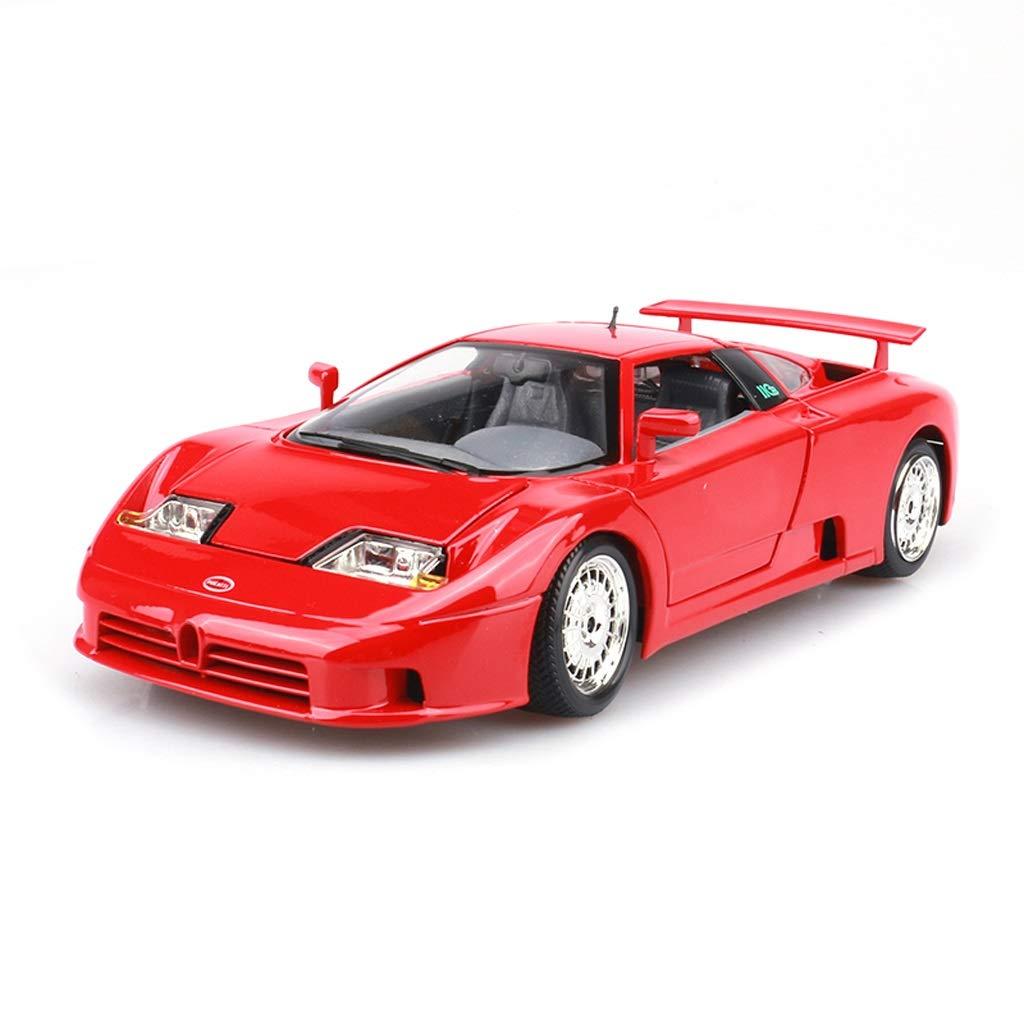 más descuento MXueei Modelo De Coche Coche 1 18 Bugatti EB110 Aleación Aleación Aleación De Simulación De Fundición De Juguete Joyería Joyería De Colección De Coche Deportivo Rojo 24x10x5.5 CM  el mas reciente