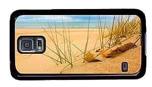 Hipster grove Samsung Galaxy S5 Cases beach sand grass sunshine PC Black for Samsung S5