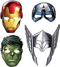 Avengers Assemble Paper Masks 8ct