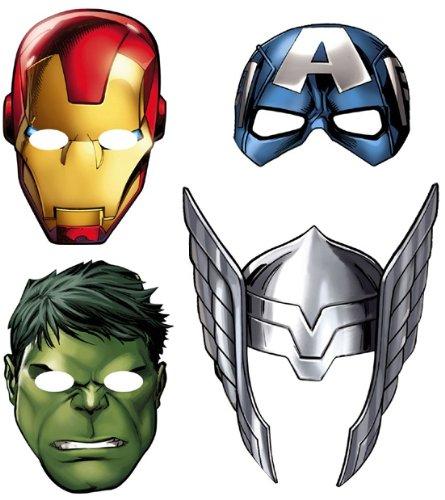 Avengers 'Assemble' Paper Masks (Avengers Birthday Supplies)