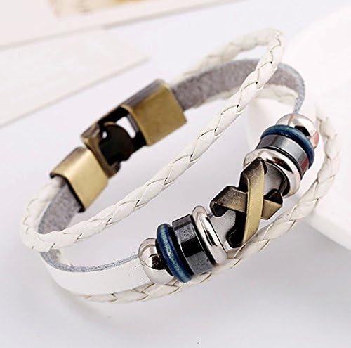 AIUIN Bracelet Chaine en Cortex Blanc La Forme de X cr/éative R/églable Bijoux Poignet d/écoration Romantique Cadeau de Mariage No/ël 1pcs 20cm
