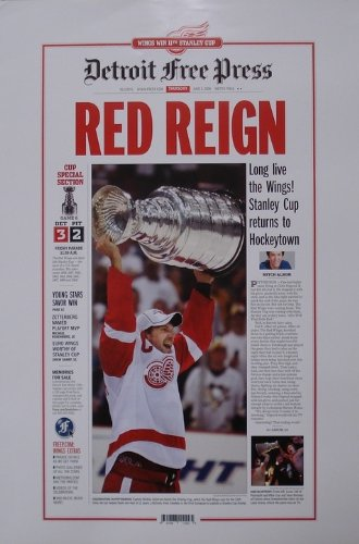 Red Reign  2008 Detroit Red Wings Free Press Poster
