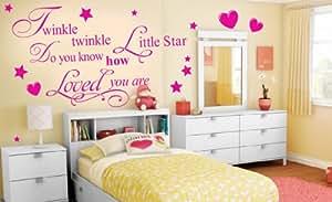 Removable Wall Sticker Twinkle Twinkle Little Star Vinyl Wall Decal Kids Bedroom DIY Wall Decals