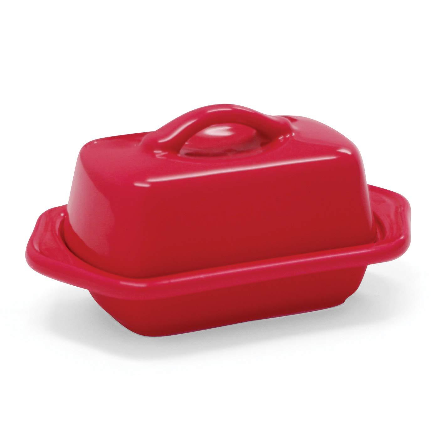 Chantal 93-TVBD2-1 RR Mini Butter Dish, True Red