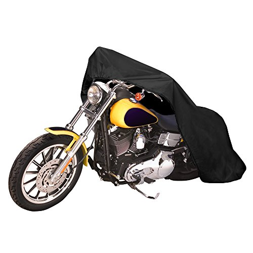 EmpireCovers Black Soft Stretch Motorcycle Covers: 86in L x 44in W x 44in H ()