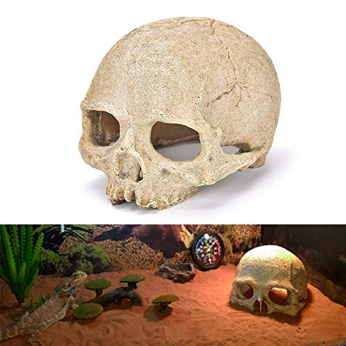 - SUJING Aquarium Decor Resin Emulational Skull Ornament Artificial Miniature Castle Tower Decorations