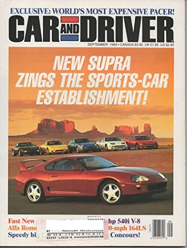 CAR AND DRIVER MAGAZINE SEPTEMBER 1993