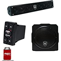 Wet Sounds Stealth 6 Surge Sound Bar w/WW-BTRS Bluetooth Rocker Switch and AS-8 8 350 Watt Powered Stealth Subwoofer