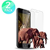 "iPhone 8, 7, 6S, 6 Screen Protector Glass, MoCoin Tempered Glass Screen Protector for Apple iPhone 8, 7, iPhone 6S, iPhone 6 [4.7""inch] 2017/2016 (2-Pack)"