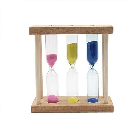 WINOMO 1-3-5 minutos marco de madera reloj de arena de arena reloj