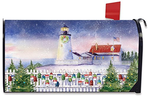 Briarwood Lane Christmas Lighthouse Magnetic Mailbox Cover Nautical ()