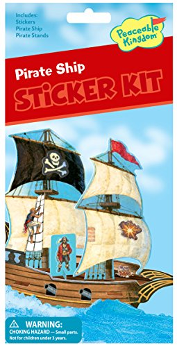 Make Your Own Pirate Ship Activity (Peaceable Kingdom Pirate Ship Adventure Quick Sticker Kit)