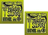 Ernie Ball Regular Slinky Electric Guitar Strings, Nickel Wound, Lot/2, P02221^2